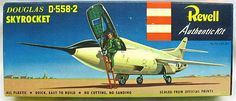 Revell Douglas Skyrocket - Pre 'S' Issue, Vintage Models, Old Models, Vintage Toys, Plastic Model Kits, Plastic Models, Toys In The Attic, Monogram Models, Experimental Aircraft, Model Airplanes