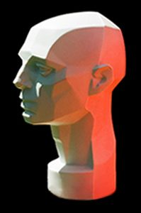 Planes of the Head - Artist's Mannequin Head by John Asaro