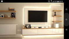 Mooi verlicht tv meubel