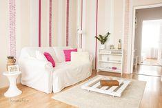 living room, white-pink interior nappali részlet, fehér-pink enteriőr, home staging