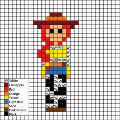Toy Story, Jessie - Perler Mania Pattern