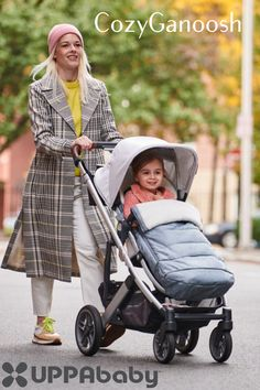 The Cozyganoosh by Uppababy is the ultimate ultra-plush stroller that provides the best coverage on a cold, wintery day!