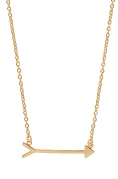 Gold Vermeil Arrow Necklace   On the Mark Necklace   Stella & Dot