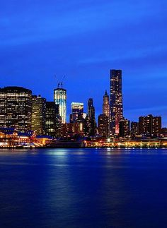 Bucket list item: see the New York City skyline at night.