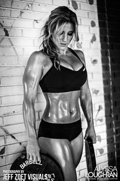 POWERFUL PHYSIQUE of blonde #Crossfit athlete & #Fitness model Alyssa Loughran : if you LOVE Health, Workouts, Inspirational Body Goals - you'll LOVE the #Motivational designs at CageCult Fashion: http://cagecult.com/mma