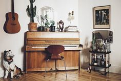 The vintage home of Elin Jensdotter/Bodil Vintage. Picture by Emily Dahl.