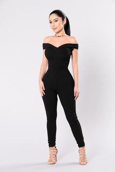 City Of Lights Jumpsuit - Black – Fashion Nova Looks Chic, Jumpsuits For Women, The Dress, Chic Outfits, Black Outfits, Dress To Impress, Ideias Fashion, Fashion Dresses, Womens Fashion