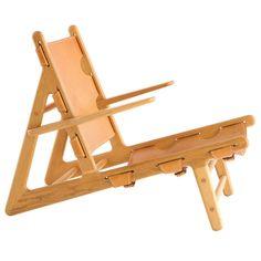"""Borge Mogensen """"Hunting Chair"""", Denmark, 1950.  Rare."""