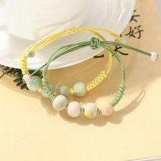 景德镇陶瓷首饰品 手链 小清新 欧美风范夸张手工编织4颗K33