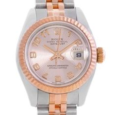 Rolex Datejust Ladies Steel 18K Rose Gold Concentric Dial Watch. Get the lowest price on Rolex Datejust Ladies Steel 18K Rose Gold Concentric Dial Watch and other fabulous designer clothing and accessories! Shop Tradesy now