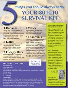 5 things a RAW 801010 should ALWAYS keep in their bag. Best RAW survival guide!