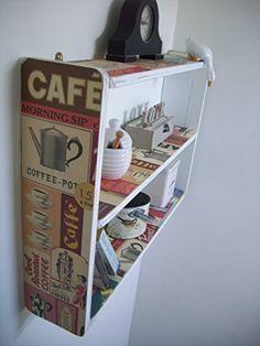 74cm x 50cm White Shabby Chic `Vintage Coffee` Shelves, Spice Rack, kitchen Shelves, Bathroom Shelves, Bedroom Shelves, Kitchen Furniture, http://www.amazon.co.uk/dp/B00JI65GBU/ref=cm_sw_r_pi_awdl_cd8YvbZG97B0S