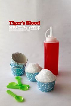 Blood Sno Cone Syrup Tiger's Blood is a super popular flavor for sno cones! You can make it at home with this super easy recipe from Tiger's Blood is a super popular flavor for sno cones! You can make it at home with this super easy recipe from Sno Cone Syrup Recipe, Shave Ice Syrup Recipe, Coconut Snow Cone Syrup Recipe, Frozen Desserts, Frozen Treats, Rice Krispie Treats, Rice Krispies, Snow Cone Stand, Sno Cones