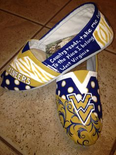 West Virginia University    Made to Order by solespirit on Etsy, $110.00