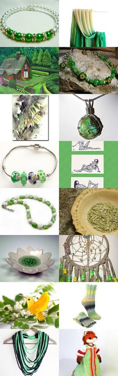 Green is gorgeous! by Julie - Pure GRACE Soap on Etsy--Pinned with TreasuryPin.com