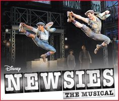 Newsies on Broadway...yep that's my husband on the right(;