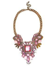 Pink Stones Statement Necklace @ InMyDresser.com