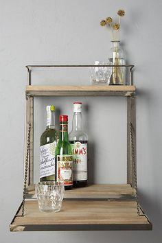 Fold-Down Bar Shelf #anthropologie