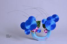 Ikebana ikenobo japan flower arrangement jiyuka by Christine Tan. Indonesia