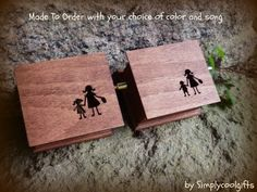 Wedding Music Box, Set Of 2 Music Boxes. Gift For Mom, Personalized Gift, Mother…