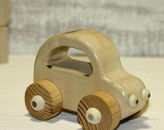 Wooden Toy Car-Toy cartoon car-Toy for toddler-Gift for boy-Wooden car--Wooden vehicle