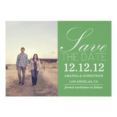 Green Design Save the date Photo Announcements