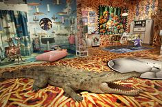 Cecilia Dean and James Kaliardos have tapped Italian artists Maurizio Cattelan and Pierpaolo Ferrari — the duo behind art magazine Toilet Paper — to create an interactive installation. Kitsch Art, Kitsch Decor, Chinoiserie, Cadillac, Estilo Kitsch, Ferrari, Psychedelic Space, Maximalist Interior, Interior Decorating
