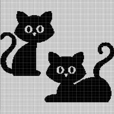 Digital computer model - not printed on paper This is a pattern only Not a kit or finished piece No fabric or floss are included in this listing Stitch Counts Gato Crochet, Crochet Cat Pattern, Afghan Crochet Patterns, Filet Crochet, Loom Patterns, Cross Stitching, Cross Stitch Embroidery, Cross Stitch Patterns, Cross Stitch Silhouette
