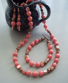 Hey, I found this really awesome Etsy listing at https://www.etsy.com/listing/94324547/reduced-price-coral-colored-jade-copper