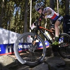 Training for the 2017 UCI Mountain Bike World Cup in Czech Republic