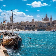 It's Midweek! #GoodAfternoon from #Sliema! Overlooking Malta's Capital City #Valletta.  Featured Photographer: @henri_koo  Tag your #photos with #MaltaPhotography to get a chance to be #featured on @maltaphotography - http://ift.tt/1fpoK0v  #blue #sky #sea #ship #boat #capital #city #summer #Wednesday #Midweek #island #jj #Malta #Photography #instagramhub #instafamous #photooftheday #picoftheday #lonelyplanet #travel #destination #worlderlust #beautifuldestinations