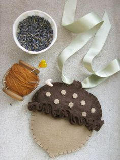 Lavender Sachet/Air Freshener - After seeing this on Design*Sponge, I actually made one of these for my car (except mine is a crocheted owl stuffed with vanilla-soaked cotton and dried lavender).