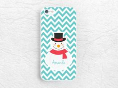 Snowman Chevron Monogram name personalized Phone Case for iPhone 6/6s, Sony z3 z4, LG G4, HTC one M8 M9, Samsung S6, Note 5, XMAS Case -C29