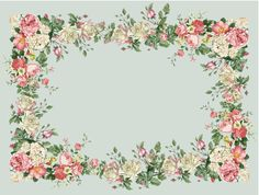 .Floral frame