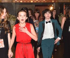 Millie's face is the  face you make when bae ask you and finns face is when that say yes