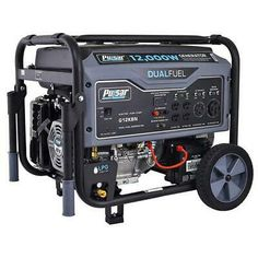 Pulsar Dual Fuel Portable Generator in Space Gray with Electric Start, peak watts/ rated watts (gasoline) & peak watts/ rated watts (LPG)Dual Fuel Capab… Best Portable Generator, Dual Fuel Generator, Inverter Generator, Generators, Generator Parts, Diy Generator, Brushless Motor Controller, Thing 1, Fuel Gas
