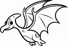 how to draw a pterodactyl for kids step 8