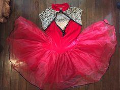 eeccaddd055c Extra Off Coupon So Cheap Womens Costume Small Red Tutu Brocade Velvet Art  Deco Ballerina Leotard