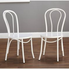 Simple Living Vintage Inspired Cafe Chairs (Set of - Overstock Shopping - Great Deals on Simple Living Dining Chairs Metal Cafe Chairs, Leather Dining Room Chairs, Kitchen Chairs, Bar Chairs, Dining Chair Set, Side Chairs, Desk Chairs, Kitchen Redo, Office Chairs
