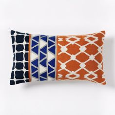 Crewel Linked Tiles Pillow Cover, 12