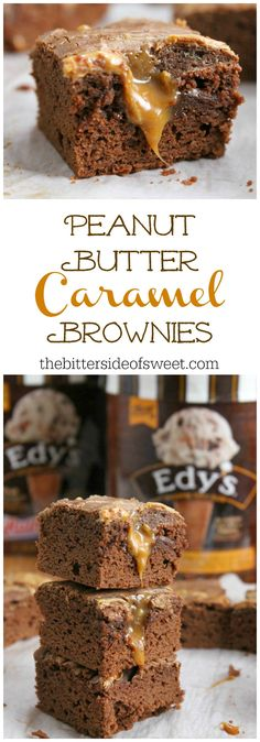 Peanut Butter Caramel Brownies | The Bitter Side of Sweet #SweeterTogether #ad