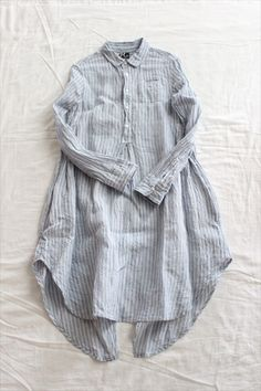 DENSELY GAUZE STRIPE SWALLOW TAIL SHIRT / Bridge - Other Brand,TUNIC AND SHIRT - Veritecoeur(ヴェリテクール)
