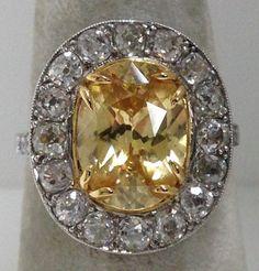Edwardian Platinum, (natural) Zircon Ring