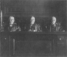 (left to right) William W. Morrow, William B. Gilbert, Erskine M. Ross.  This trio filled the three authorized judgeships for the Ninth Circuit  between 1897 and 1923. (U.S. Court of Appeals, Ninth Circuit)