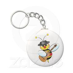 Spanish Flamenco bee Key Chain from Zazzle.com $2.95