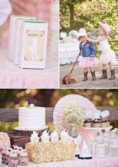 Shabby Chic Cowgirl Party Dessert Table // Hostess with the Mostess® Petting Zoo Birthday Party, Rodeo Birthday, Horse Birthday Parties, Farm Birthday, Geek Birthday, Birthday Ideas, Dessert Party, Dessert Tables, Horse Party Decorations