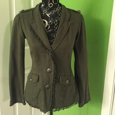 Cute dark green jacket Could fit small or extra small! Cute dark green jacket, goes well with tons of things and perfect for fall :) Nick & Ma Jackets & Coats