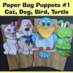 This is a really fun craft to use with the new Dr. Seuss book, What Pet Should I Get?  What is included: - 4 pets (cat, dog, turtle ... and my favorite ... the bird) - a simple writing activity has been prepared which can be placed on the back of each pet (grade 1 or 2 or 3) JK and K can just make the paper bag puppets and not do the writing activities.
