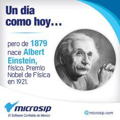Un día como hoy, 14 de marzo, pero de 1879 nace Albert Einstein, físico, Premio Nobel de Física en 1921.
