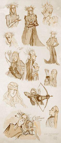 Elves - sketches by *Eis91 on deviantART